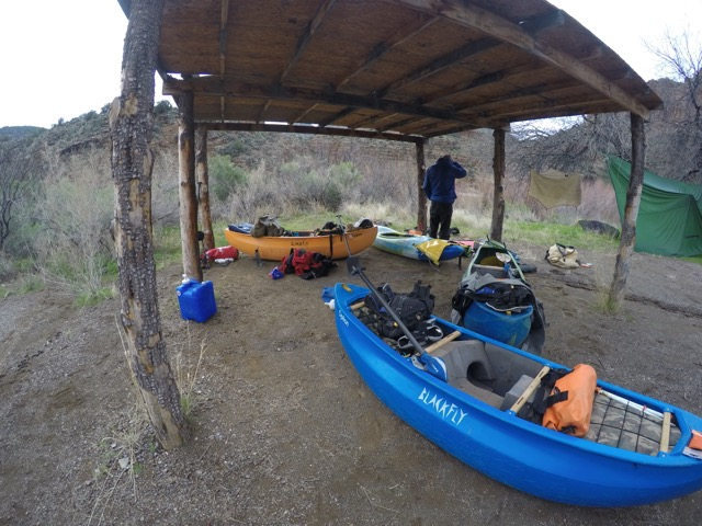 Self-Support canoeing down the Salt River
